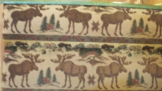 Barrie, Canada: You'll be sitting on moose upholstery at Moose Winooski's.