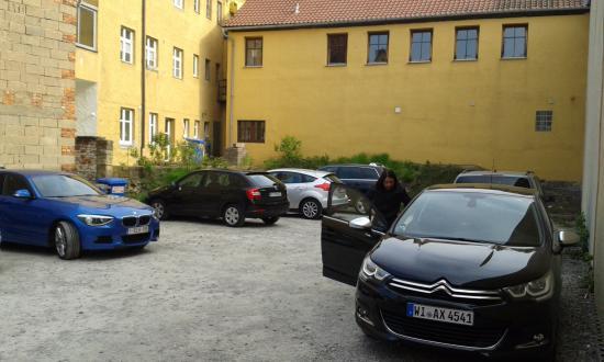Gasthof Zum Breiterle: Estacionamento privativo.