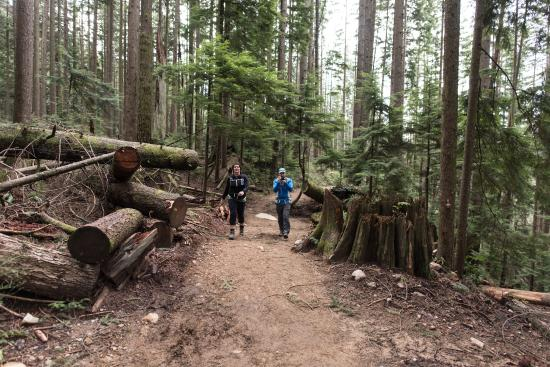 North Vancouver, Canadá: dirt trail