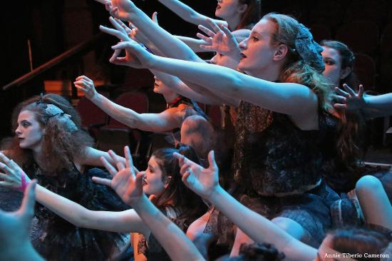 Montpellier, VT: 2015 - The chorus reach out to help tell the story of Orpheus and Eurydice