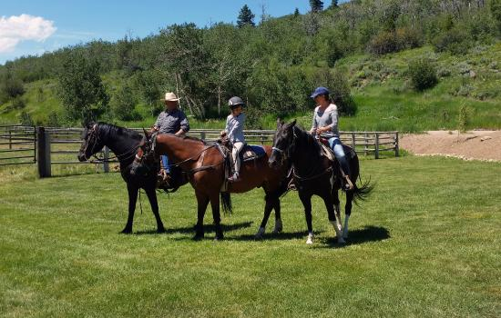 Moose Creek Ranch: Passeggiata a cavallo