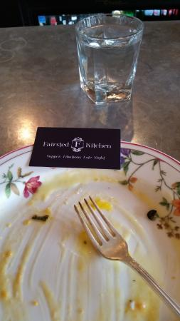 Fairsted Kitchen: Not much left of the eggs benedict!