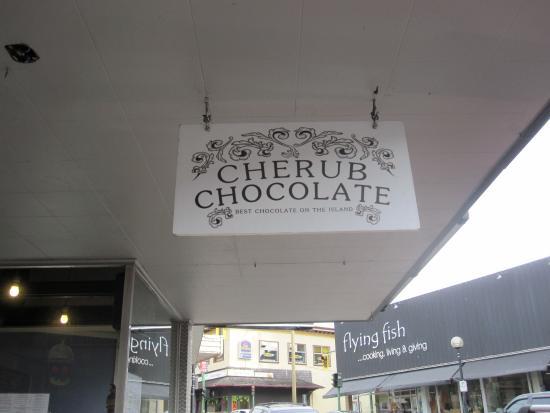 Nanaimo, Canada: Chocolate sign