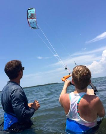 Kiss The Sky Kiteboarding: kite steering, pre-board