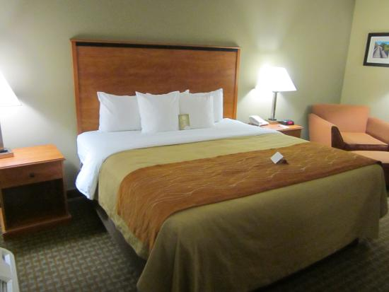 Comfort Inn Marion: Very comfortable bed in a quiet room