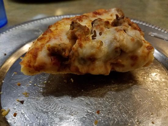 Loggers Pizza & Growlers: 2-topping personal pizza (sausage and mushroom)