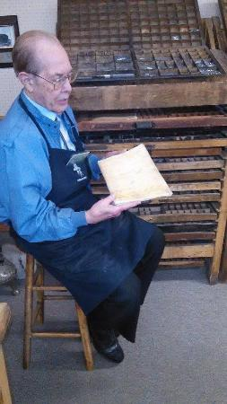 Provo, UT: Louis Crandall Telling about printing