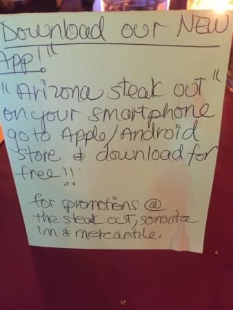 Sonoita, AZ: The Steak Out