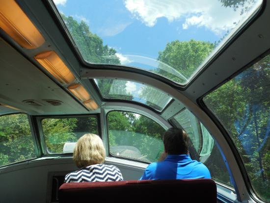 Etowah, TN: Riding at the top in the Dome Car.
