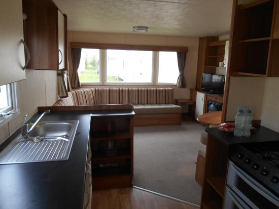 St Margaret's at Cliffe, UK: Interior of gold caravan, st margarets bay