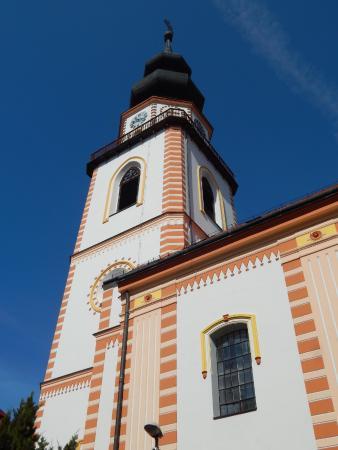 Myjava, Slovakien: kostolná veža
