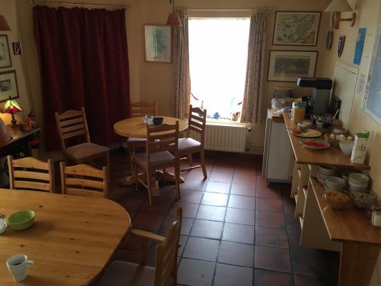Baldursbra Guesthouse: Ontbijt kamer