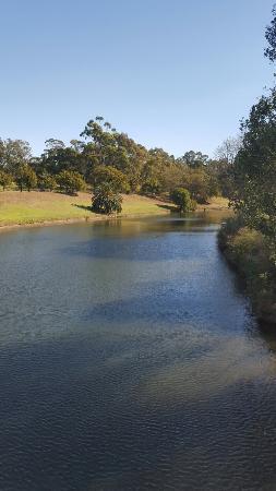 Parramatta river passing through parramatta park