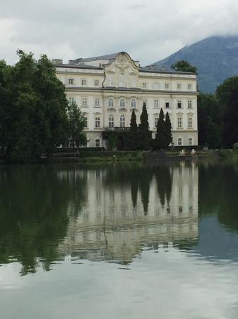 Grand Hotel Zell am See: View from the lake of the hotel