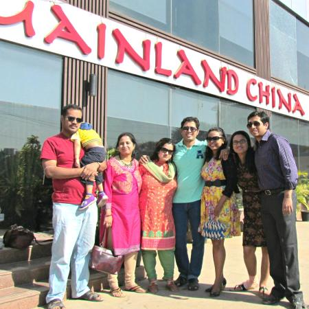 Mainland China: Our group in front of the resturant