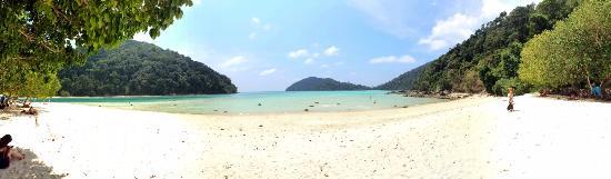 Khuraburi, تايلاند: La plage du déjeuné
