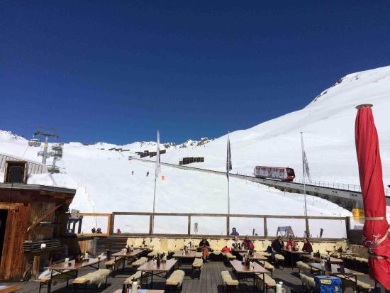 Randa, Suiza: Doprava lanovkou/vláčkem na vrchol
