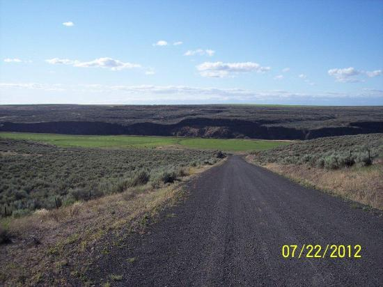 La Collage Inn: Primitive road going out into the scablands open to all WATV Traffic