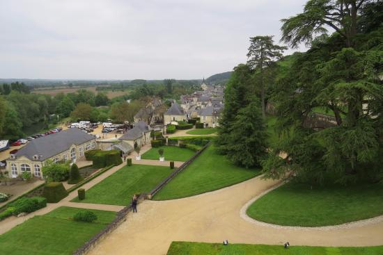 Rigny-Usse, Francja: Jardim visto do Château