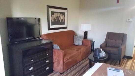 Comfort Suites Topeka: Sitting area