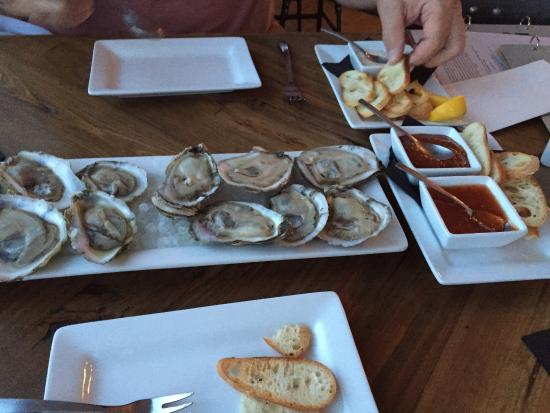 Picture of blue water grill raw bar manteo - Bluewater grill seafood restaurant oyster bar ...