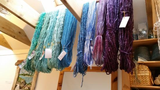 Great Bernera, UK: Hanks of yarn