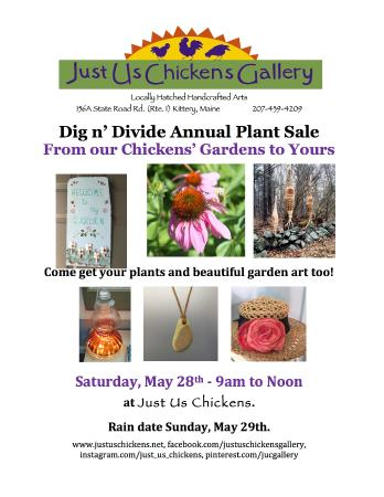 Kittery, ME: Plant and Garden Art Sale 5/28/16