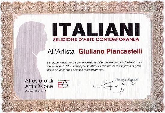 Brisighella, Italia: Anche VITTORIO SGARBI apprezza la nostra arte. Siamo pubblicati sul suo catalogo ITALIANI