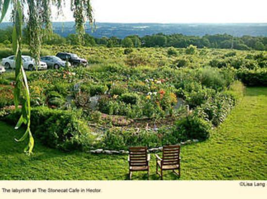 Hector, NY: Restaurant Herb Garden