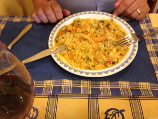 Prazeres, Portugalia: arroz de mariscos / seafood rice