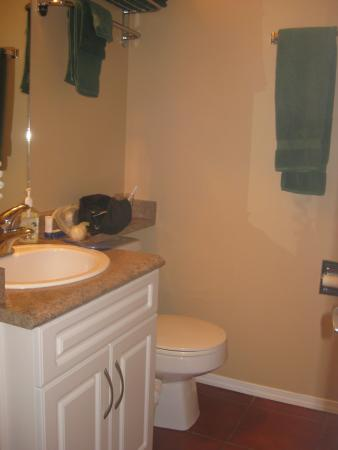 Sandy Beach Motel: Adequate bathroom.