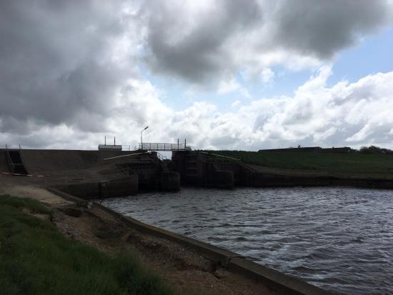 Stormflodssoejlen ved Hoejer Sluse