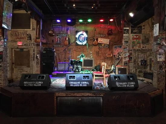 Music stage - Picture of Ground Zero Blues Club ...