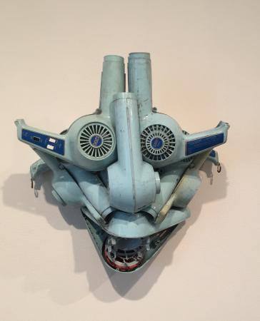 Greensboro, Carolina del Norte: Wind Mask, 1991_Willie Cole at the Weatherspoon Art Museum