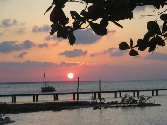 Sunset in Sarteneja