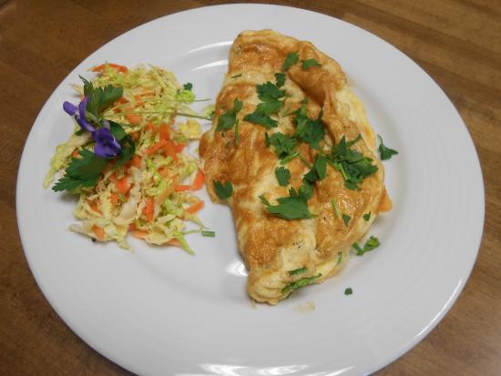St Mawes, UK: omelette