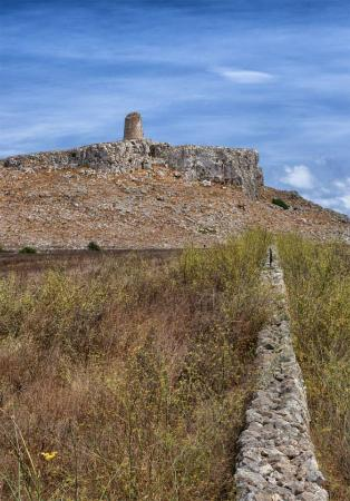 Porto Badisco, Italie : Vista dal sentiero vicino Torre Sant'Emiliano