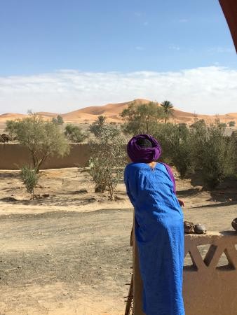Dar Marhaba: Looking over the guest house in town before loading our camels