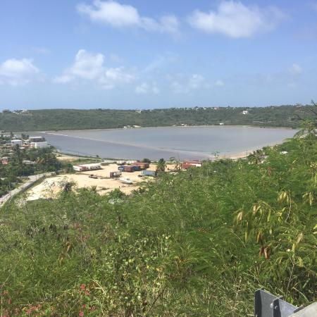 Island Harbour, Anguilla: Sandy ground salt pond