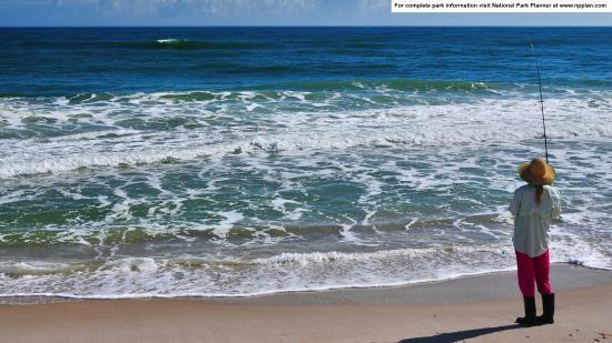 Canaveral National Seashore: Fishing at Playalinda Beach