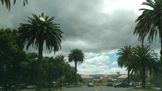 Palo Alto, Kaliforniya: Driveway into the campus