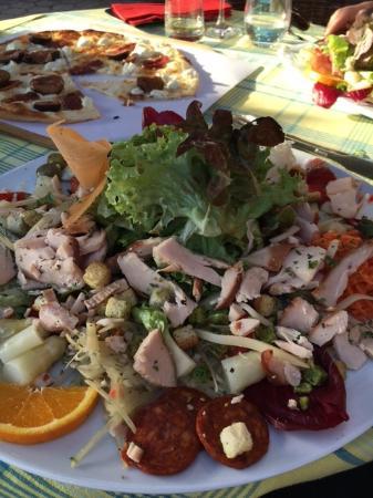 Sasbachwalden, Alemania: Eigenwilliger Ceasar Salat