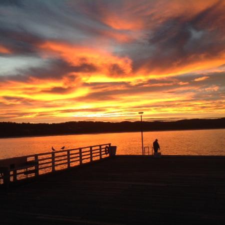 Sunset at the Wharf Locavore - Tathra Wharf