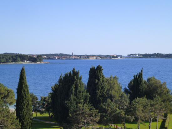 Hotel Laguna Materada: View across grounds to Porec town