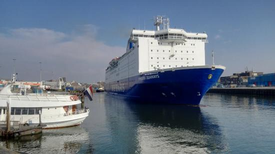 Ijmuiden, Holland: vertrekpunt ferry naar Newcastle UK