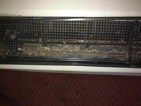 Rodeway Inn: Dirt, Filth and Mouse and Rat Droppings in the Room heater/blower