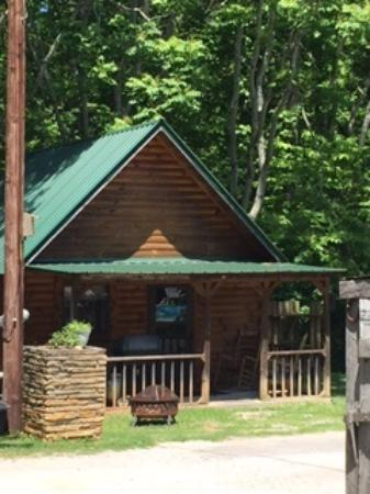 Deep Valley Campground: One log cabin for rent too