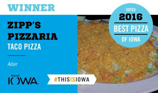 Adair, IA: Awarted the best pizza in Iowa 2016 by Iowa Tourism