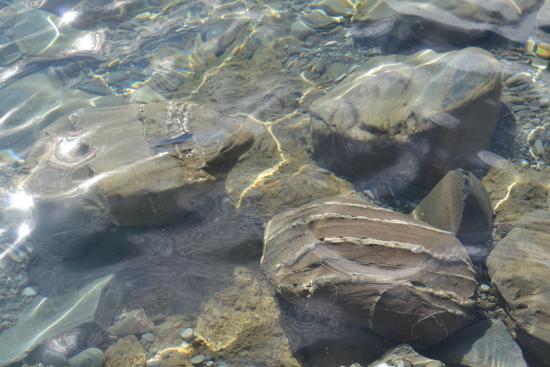 Lake Hawea, Yeni Zelanda: Reflections in the water