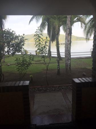 Hotel Las Gaviotas: Sit on the porch and enjoy the evening view--even in the rainy season!
